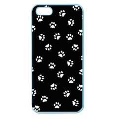 Footprints Cat White Black Apple Seamless Iphone 5 Case (color) by EDDArt