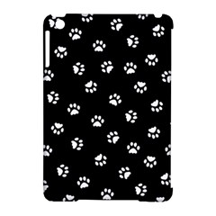 Footprints Cat White Black Apple Ipad Mini Hardshell Case (compatible With Smart Cover) by EDDArt