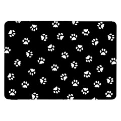 Footprints Cat White Black Samsung Galaxy Tab 8 9  P7300 Flip Case by EDDArt