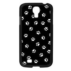 Footprints Cat White Black Samsung Galaxy S4 I9500/ I9505 Case (black) by EDDArt