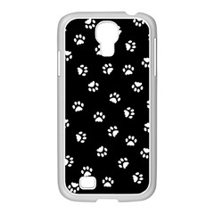 Footprints Cat White Black Samsung Galaxy S4 I9500/ I9505 Case (white) by EDDArt