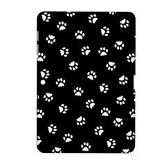 Footprints Cat White Black Samsung Galaxy Tab 2 (10 1 ) P5100 Hardshell Case  by EDDArt