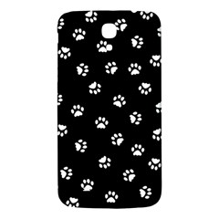 Footprints Cat White Black Samsung Galaxy Mega I9200 Hardshell Back Case by EDDArt
