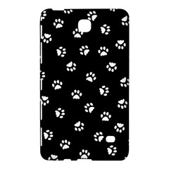 Footprints Cat White Black Samsung Galaxy Tab 4 (8 ) Hardshell Case  by EDDArt