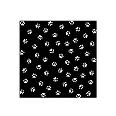 Footprints Cat White Black Satin Bandana Scarf by EDDArt