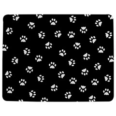 Footprints Cat White Black Jigsaw Puzzle Photo Stand (rectangular) by EDDArt