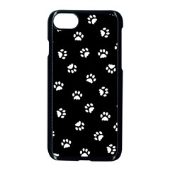 Footprints Cat White Black Apple Iphone 7 Seamless Case (black) by EDDArt