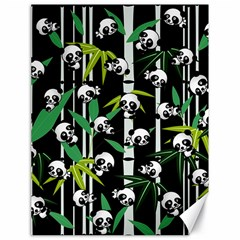 Satisfied And Happy Panda Babies On Bamboo Canvas 18  X 24   by EDDArt