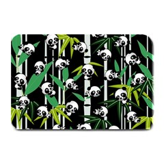 Satisfied And Happy Panda Babies On Bamboo Plate Mats by EDDArt