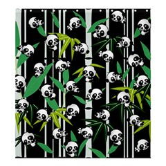 Satisfied And Happy Panda Babies On Bamboo Shower Curtain 66  X 72  (large)  by EDDArt