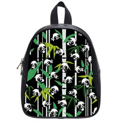 Satisfied And Happy Panda Babies On Bamboo School Bags (small)