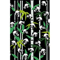 Satisfied And Happy Panda Babies On Bamboo 5 5  X 8 5  Notebooks by EDDArt