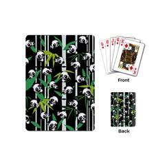Satisfied And Happy Panda Babies On Bamboo Playing Cards (mini)  by EDDArt