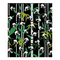 Satisfied And Happy Panda Babies On Bamboo Shower Curtain 60  X 72  (medium)  by EDDArt