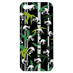 Satisfied And Happy Panda Babies On Bamboo Apple Iphone 5 Hardshell Case by EDDArt