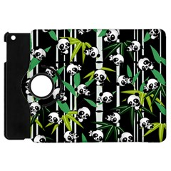 Satisfied And Happy Panda Babies On Bamboo Apple Ipad Mini Flip 360 Case by EDDArt