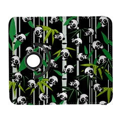 Satisfied And Happy Panda Babies On Bamboo Galaxy S3 (flip/folio) by EDDArt