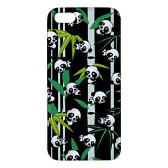 Satisfied And Happy Panda Babies On Bamboo Iphone 5s/ Se Premium Hardshell Case by EDDArt