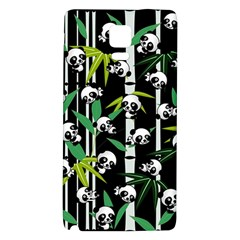 Satisfied And Happy Panda Babies On Bamboo Galaxy Note 4 Back Case by EDDArt