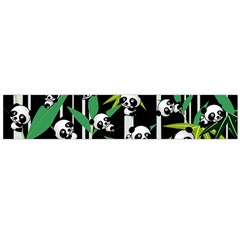 Satisfied And Happy Panda Babies On Bamboo Flano Scarf (large) by EDDArt