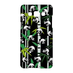 Satisfied And Happy Panda Babies On Bamboo Samsung Galaxy A5 Hardshell Case  by EDDArt