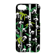 Satisfied And Happy Panda Babies On Bamboo Apple Iphone 7 Hardshell Case by EDDArt