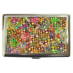 Multicolored Retro Spots Polka Dots Pattern Cigarette Money Cases by EDDArt