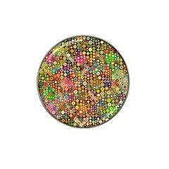 Multicolored Retro Spots Polka Dots Pattern Hat Clip Ball Marker (4 Pack) by EDDArt
