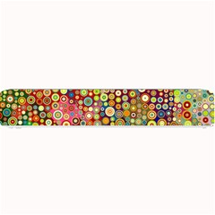 Multicolored Retro Spots Polka Dots Pattern Small Bar Mats by EDDArt