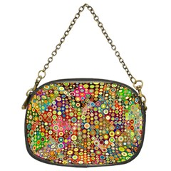 Multicolored Retro Spots Polka Dots Pattern Chain Purses (two Sides)  by EDDArt