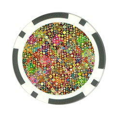 Multicolored Retro Spots Polka Dots Pattern Poker Chip Card Guard (10 Pack) by EDDArt