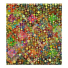 Multicolored Retro Spots Polka Dots Pattern Shower Curtain 66  X 72  (large)  by EDDArt