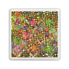 Multicolored Retro Spots Polka Dots Pattern Memory Card Reader (square)  by EDDArt