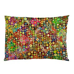 Multicolored Retro Spots Polka Dots Pattern Pillow Case (two Sides) by EDDArt