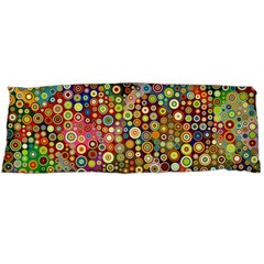 Multicolored Retro Spots Polka Dots Pattern Body Pillow Case Dakimakura (two Sides) by EDDArt