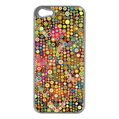 Multicolored Retro Spots Polka Dots Pattern Apple Iphone 5 Case (silver) by EDDArt