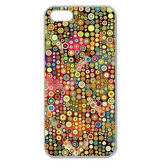 Multicolored Retro Spots Polka Dots Pattern Apple Seamless Iphone 5 Case (clear) by EDDArt
