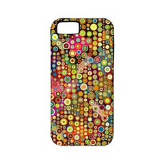 Multicolored Retro Spots Polka Dots Pattern Apple Iphone 5 Classic Hardshell Case (pc+silicone) by EDDArt