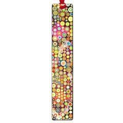 Multicolored Retro Spots Polka Dots Pattern Large Book Marks by EDDArt