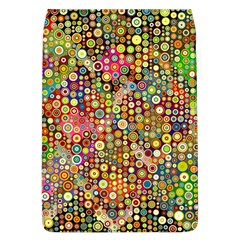 Multicolored Retro Spots Polka Dots Pattern Flap Covers (l)  by EDDArt