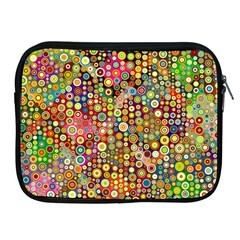 Multicolored Retro Spots Polka Dots Pattern Apple Ipad 2/3/4 Zipper Cases by EDDArt