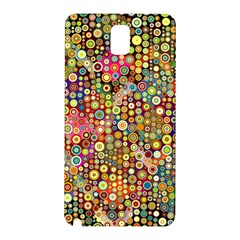 Multicolored Retro Spots Polka Dots Pattern Samsung Galaxy Note 3 N9005 Hardshell Back Case by EDDArt