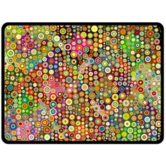 Multicolored Retro Spots Polka Dots Pattern Double Sided Fleece Blanket (large)  by EDDArt