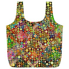 Multicolored Retro Spots Polka Dots Pattern Full Print Recycle Bags (l)  by EDDArt