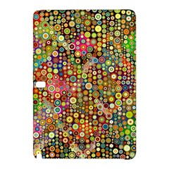 Multicolored Retro Spots Polka Dots Pattern Samsung Galaxy Tab Pro 10 1 Hardshell Case by EDDArt