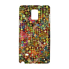 Multicolored Retro Spots Polka Dots Pattern Samsung Galaxy Note 4 Hardshell Case by EDDArt