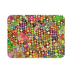 Multicolored Retro Spots Polka Dots Pattern Double Sided Flano Blanket (mini)  by EDDArt