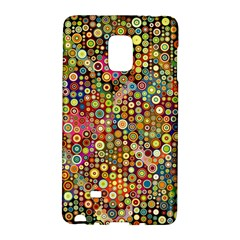 Multicolored Retro Spots Polka Dots Pattern Galaxy Note Edge by EDDArt