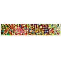Multicolored Retro Spots Polka Dots Pattern Flano Scarf (large) by EDDArt