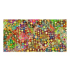 Multicolored Retro Spots Polka Dots Pattern Satin Shawl by EDDArt